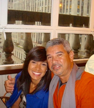 Melissa Jiménez with her dad. (Pic provided by Melissa)