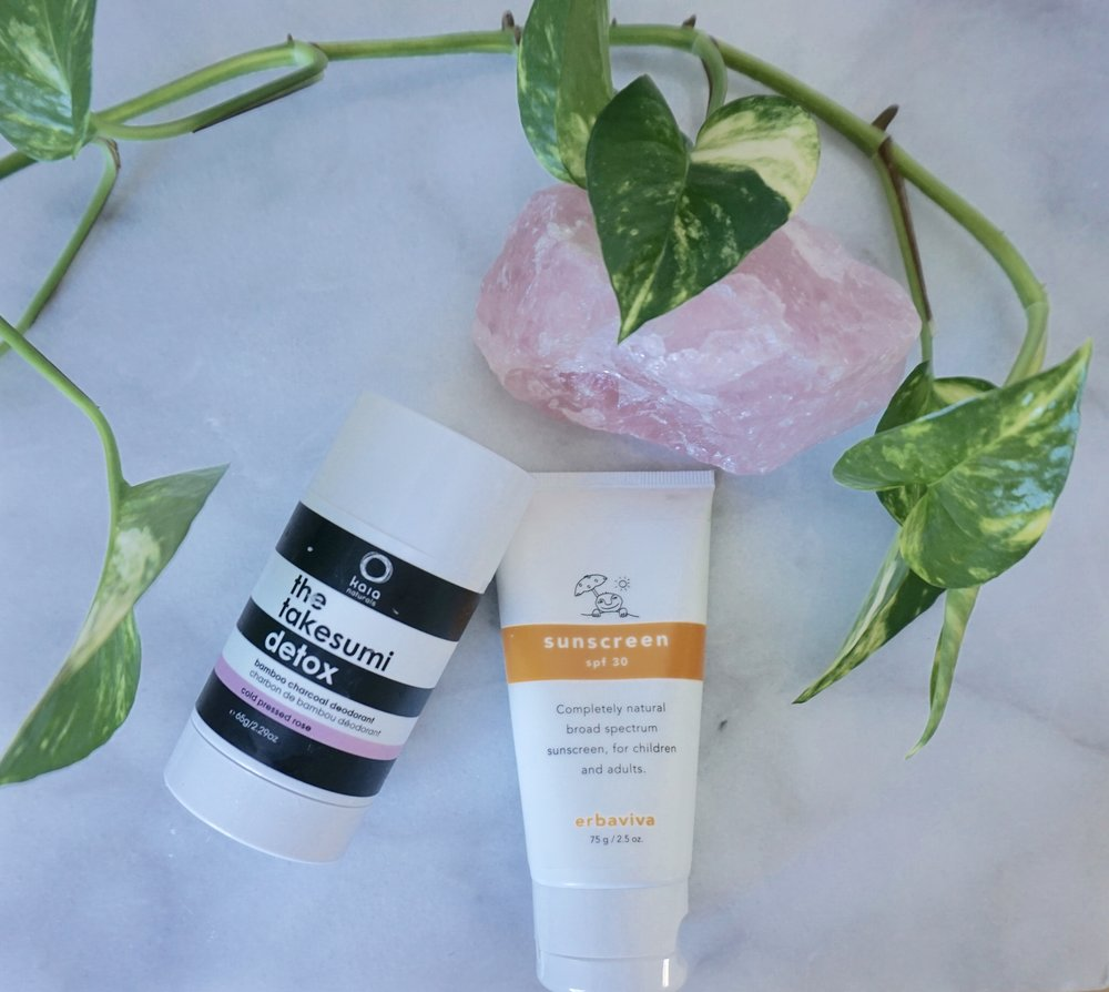 erbaviva sunscreen and natural deodorant