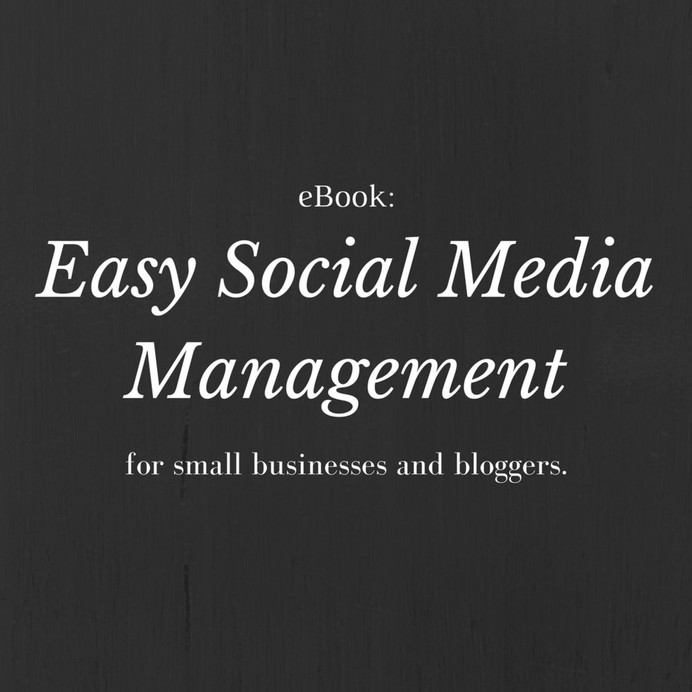 easy social media management ebook