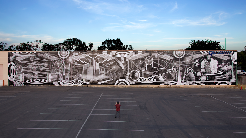 QUALCOMM MURAL: SAN DIEGO, CA  |  QUALCOMM CAMPUS     MURAL BY RE+PUBLIC