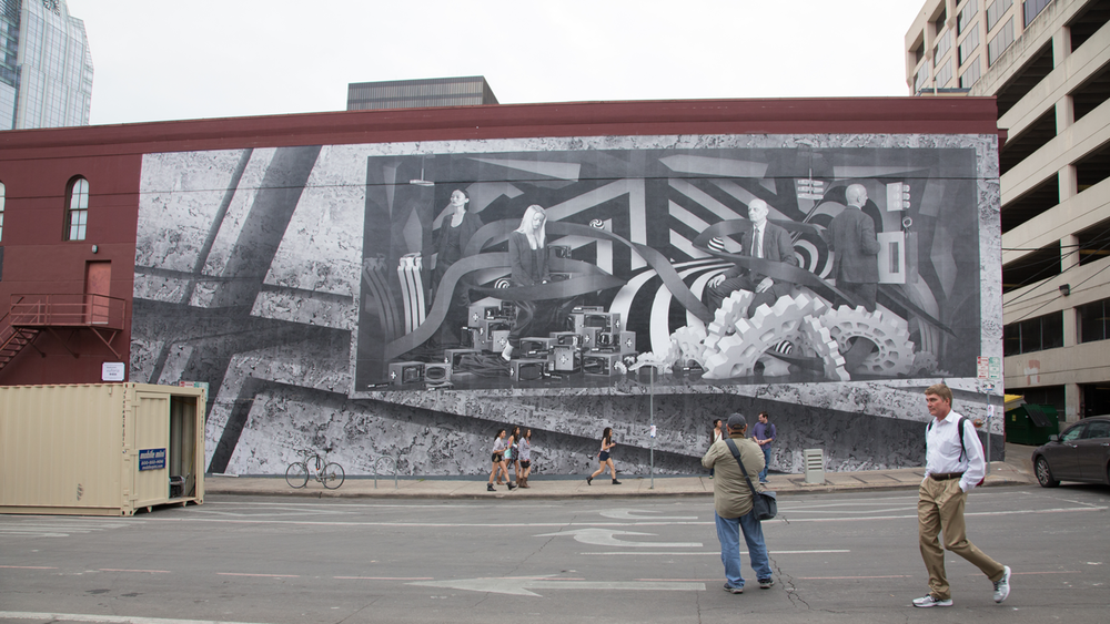 SXSW INTERACTIVE: AUSTIN, TX  |  6TH & SAN JACINTO     MURAL BY RE+PUBLIC