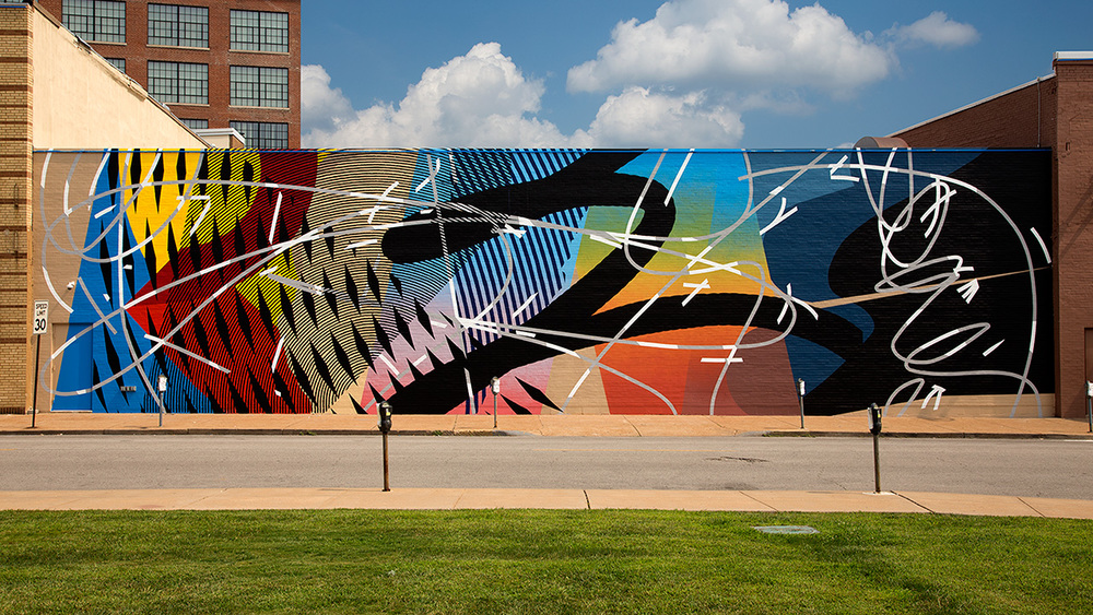 MOTO WALL: ST. LOUIS, MO | OLIVE STREET   MURAL BY MOMO