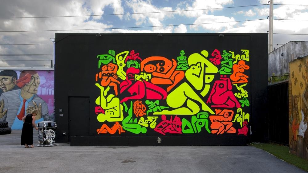 ART BASEL MIAMI, FL | WYNWOOD WALLS   MURAL BY RYAN MCGINNESS