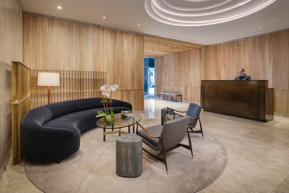 A midtown lobby by Ari Group, Inc.