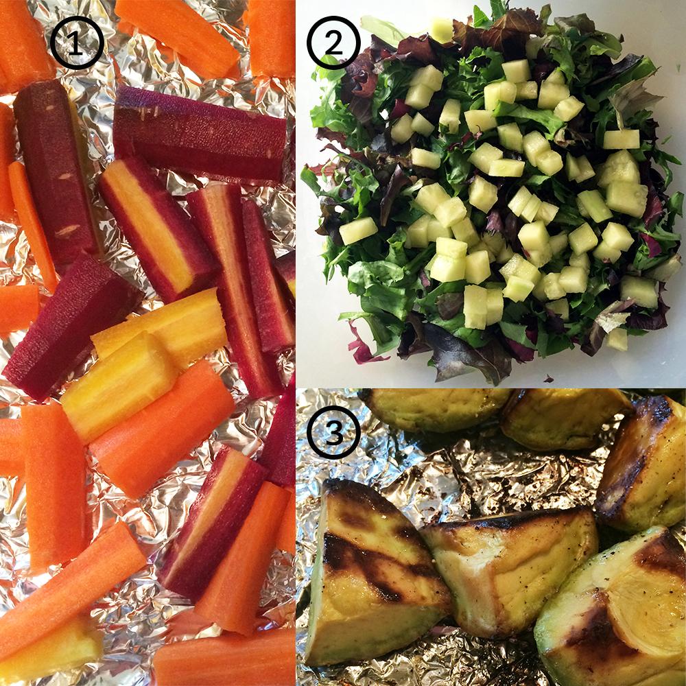 winter spring salad ingredients