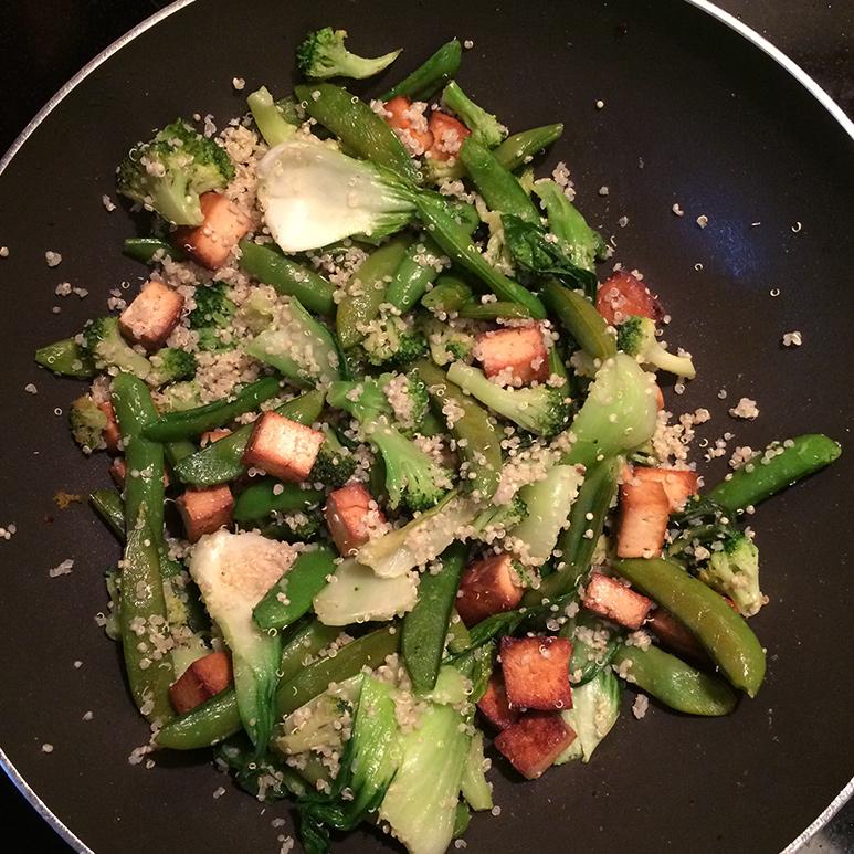 vegetarian bok choy stir fry