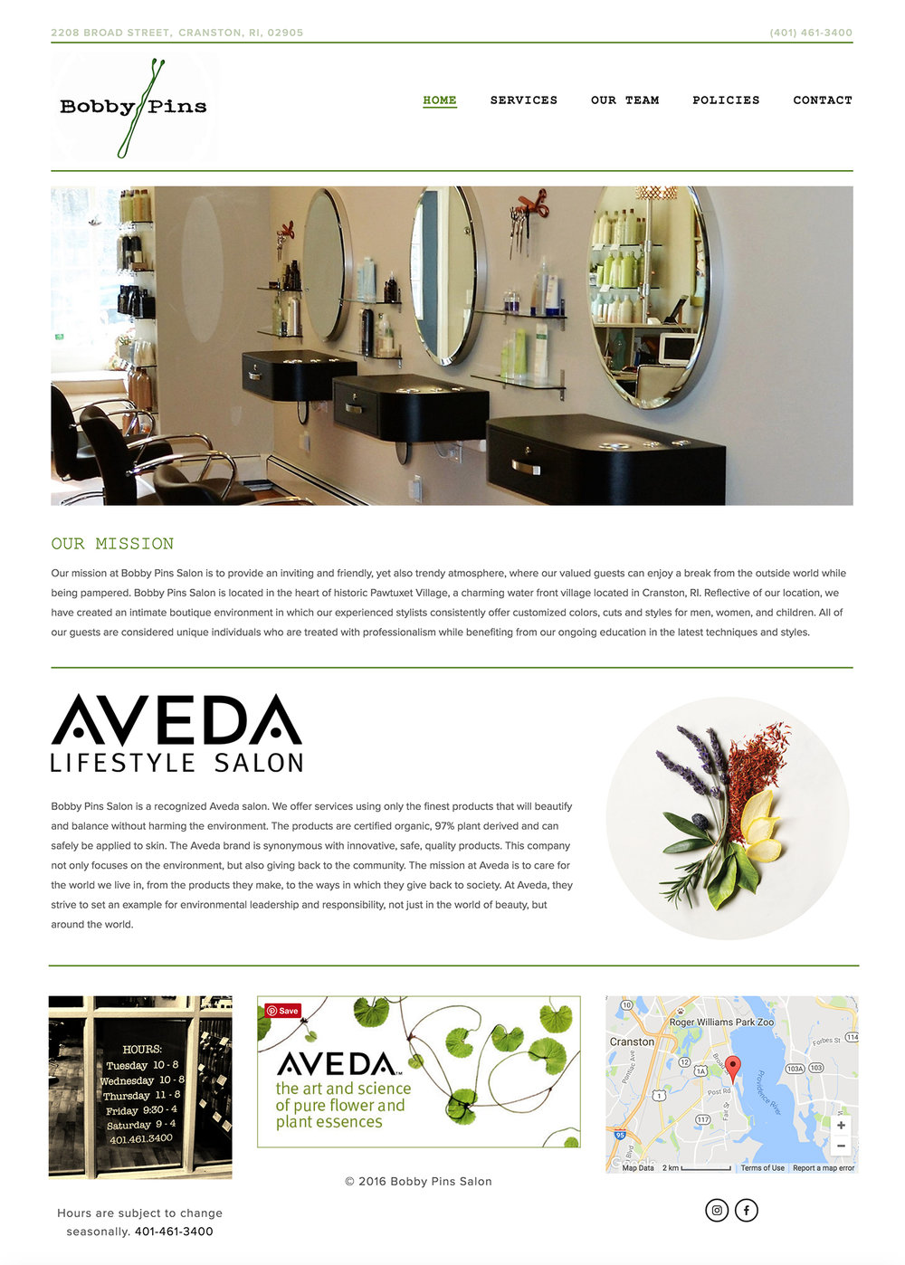 hair salon website design squarespace design