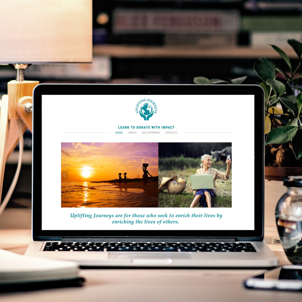 travel nonprofit website design squarespace graphic design