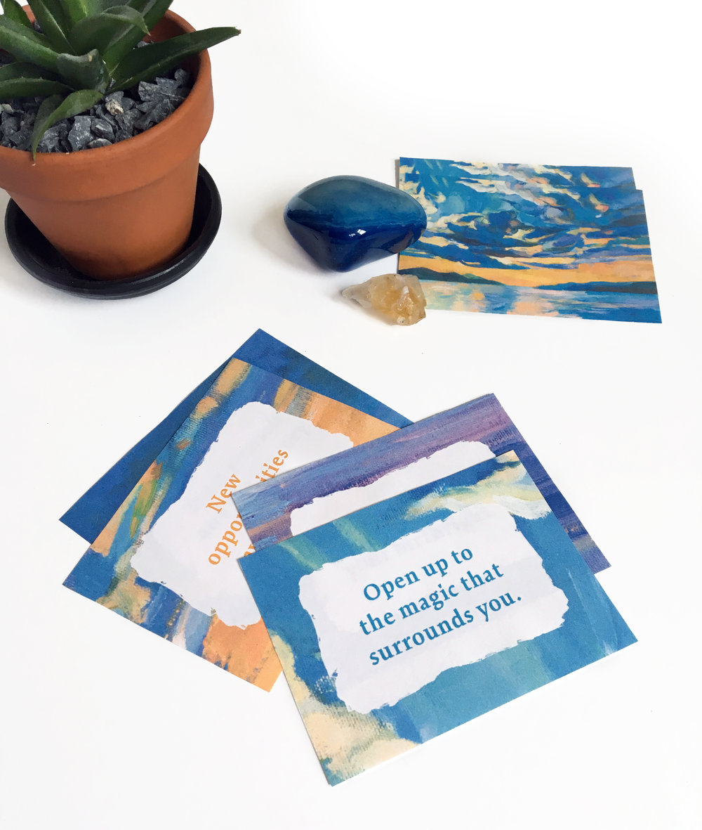 custom designed affirmation cards for group workshops