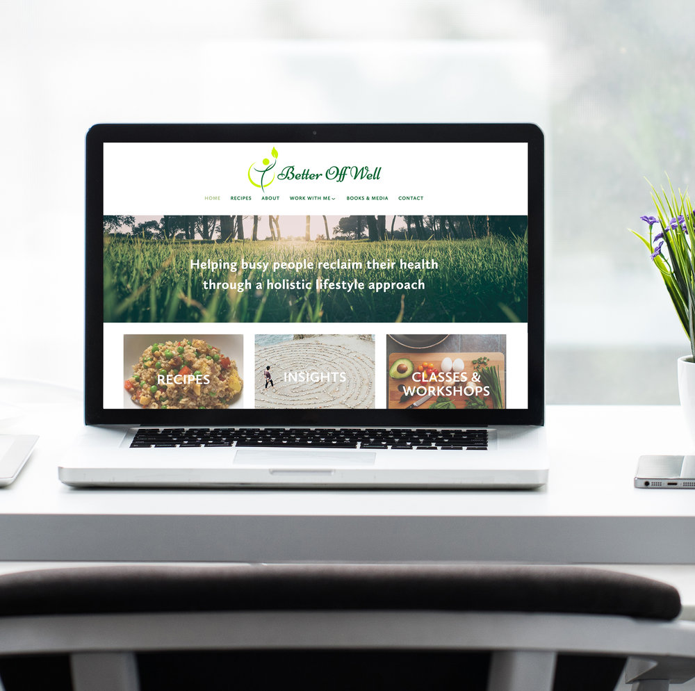 website design web design squarespace health coach