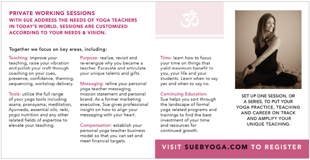 inside of the yoga brochure