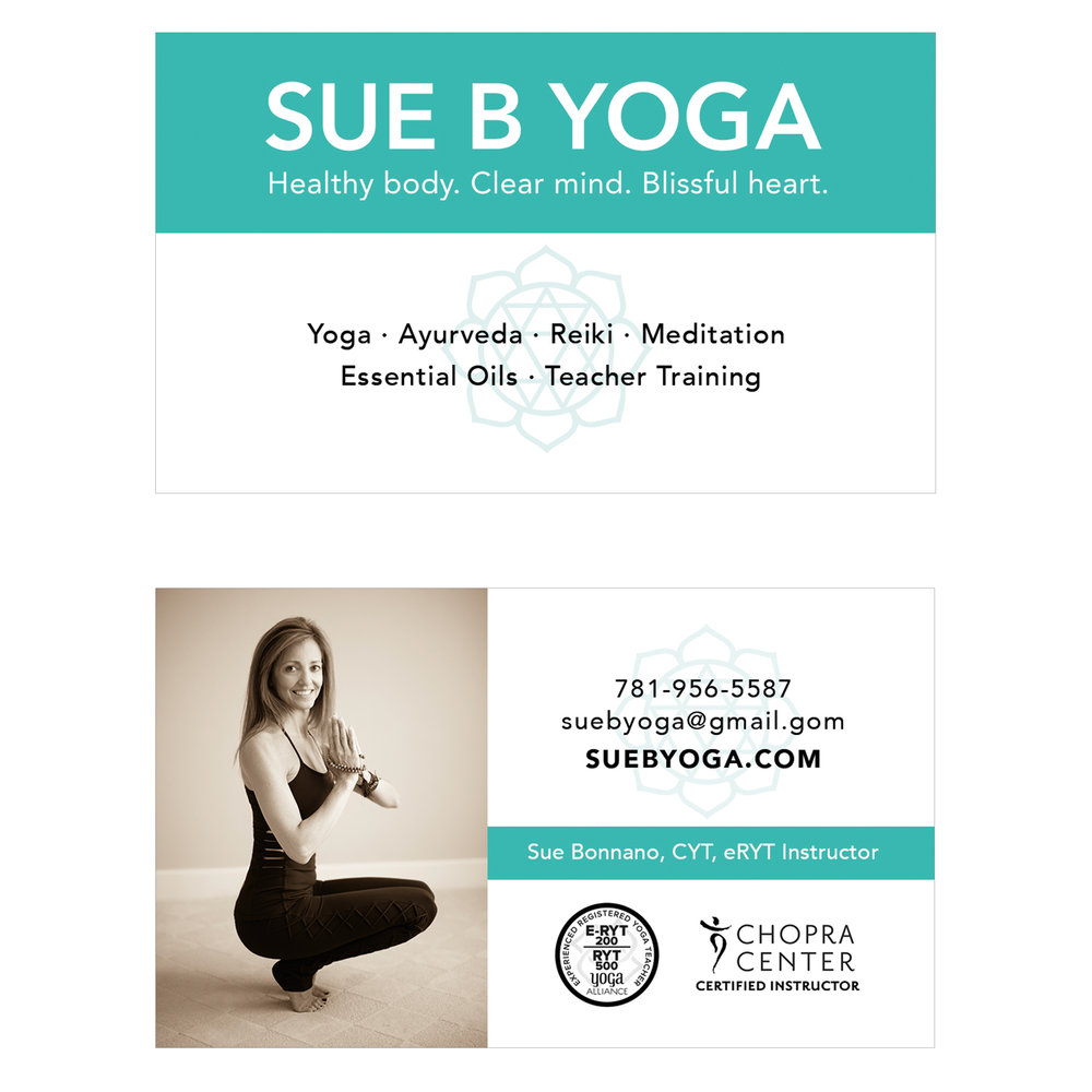 yoga instructor logo business card design
