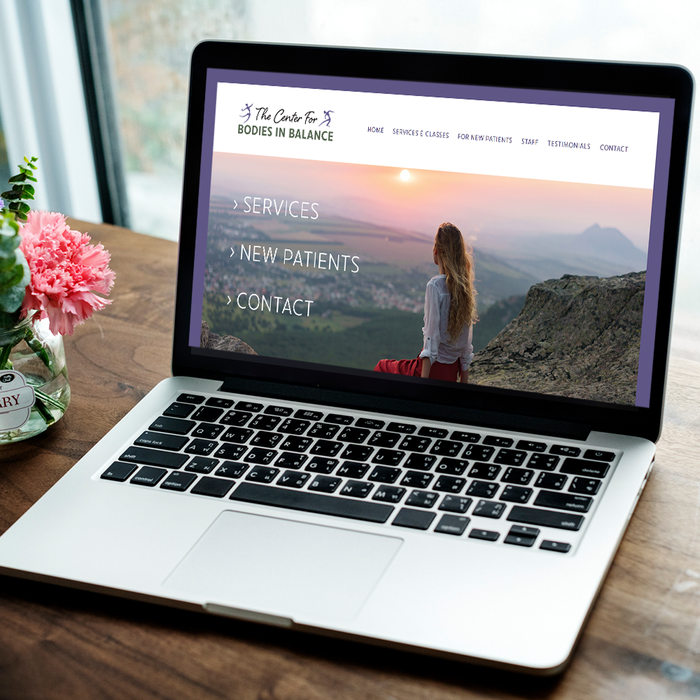 Squarespace website design for physical therapist in the south coast of New Hampshire