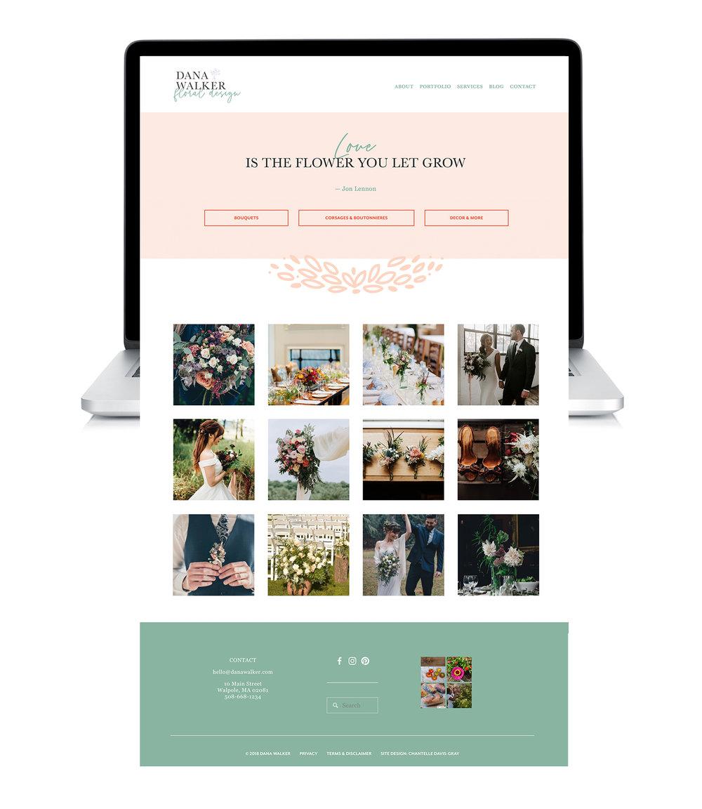 floral designer portfolio on squarespace