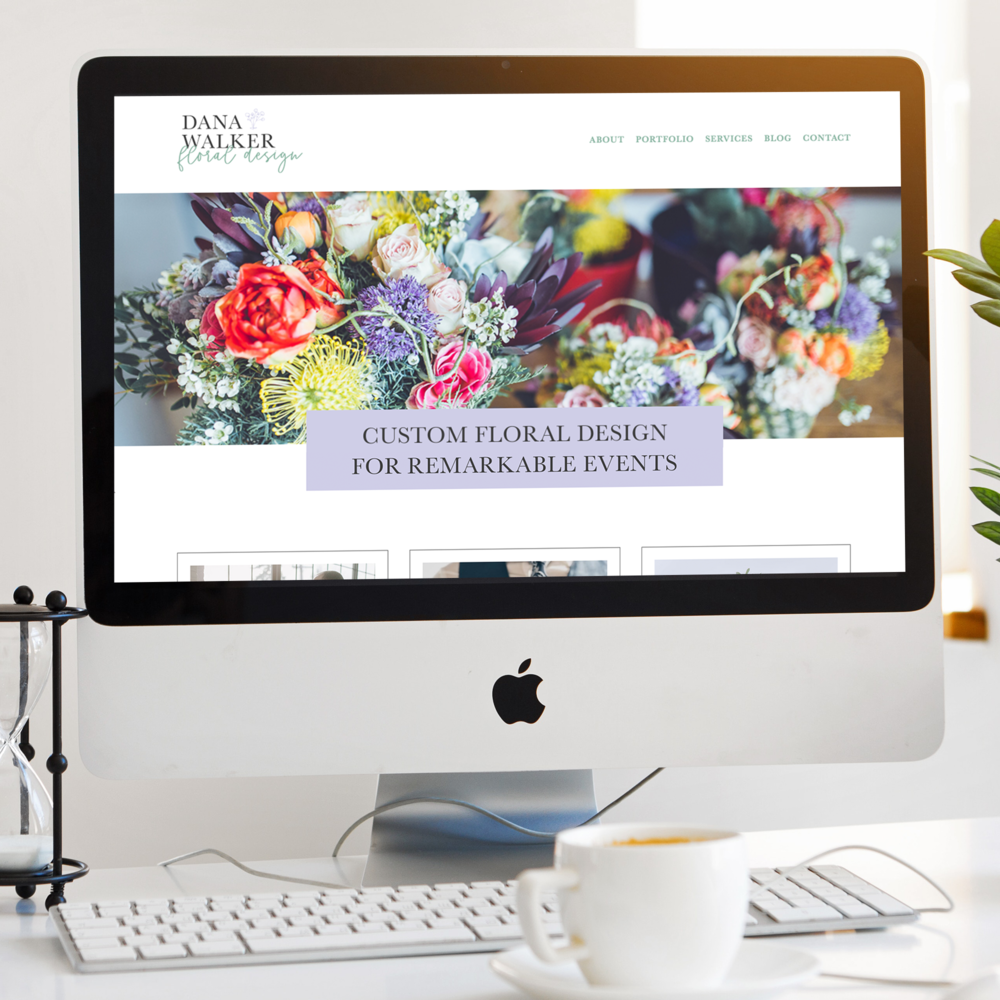 floral designer squarespace website design