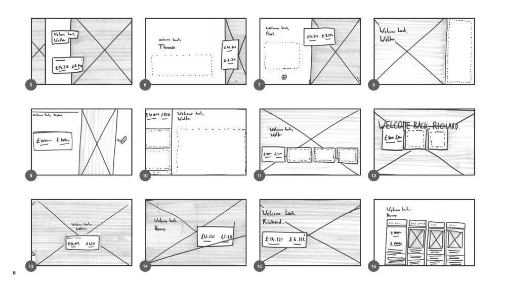 Modular design system sketches 1