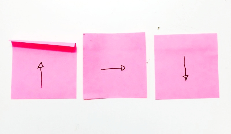 Pull the Post-It down for optimum sticking power. Credit:  Davis Levine