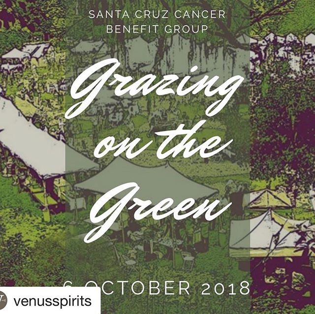 #Repost @venusspirits ・・・ This Saturday! Food, wine, beer, cocktails and music make this annual @sccbg fundraiser one of our favorite events. Grab your tickets now, link in bio 👆🏼 #foodiefestival #grazing2018 #grazingonthegreen #fuckcancer #santacruz #aptos #food #beer #wine #cocktails #eatlocal