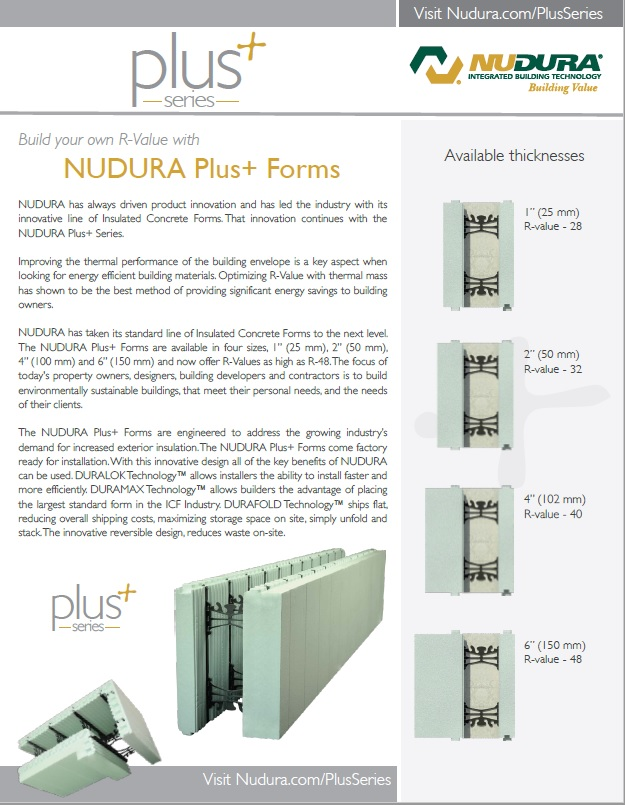 Download the NUDURA Plus Brochure