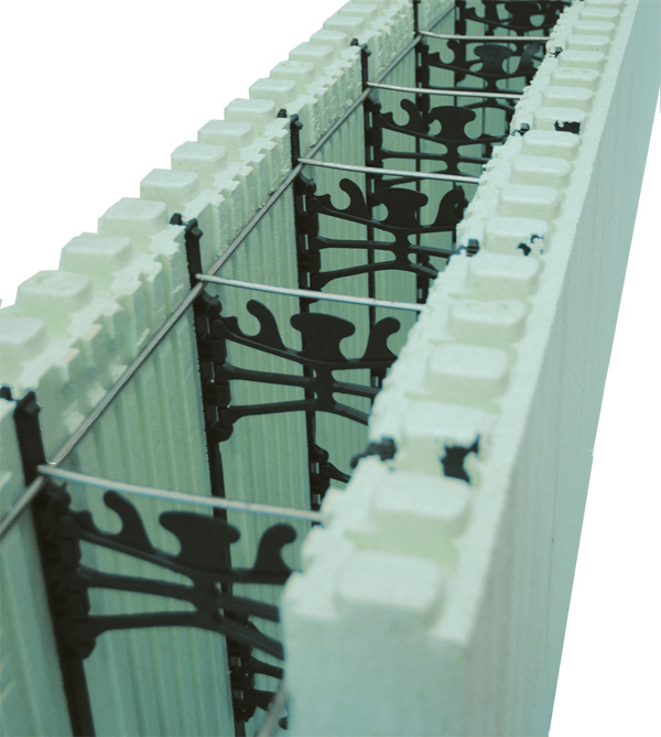 Form Lock friction fits inside forms to help straighten walls