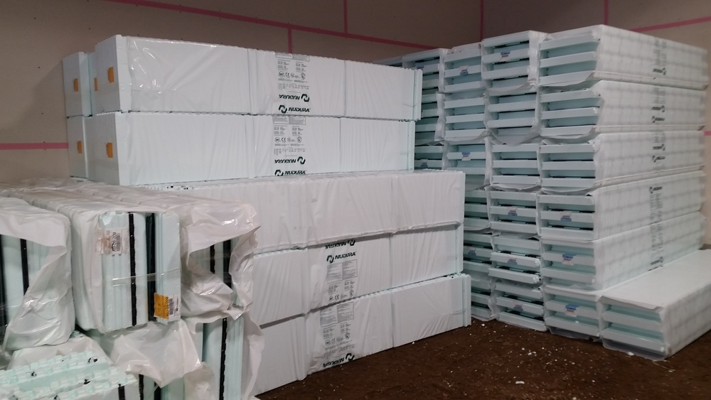 NUDURA Products are fully assembled and ship folded and wrapped in plastic to protect against sun, rain, wind, etc., while minimizing site space required and making shipping easier