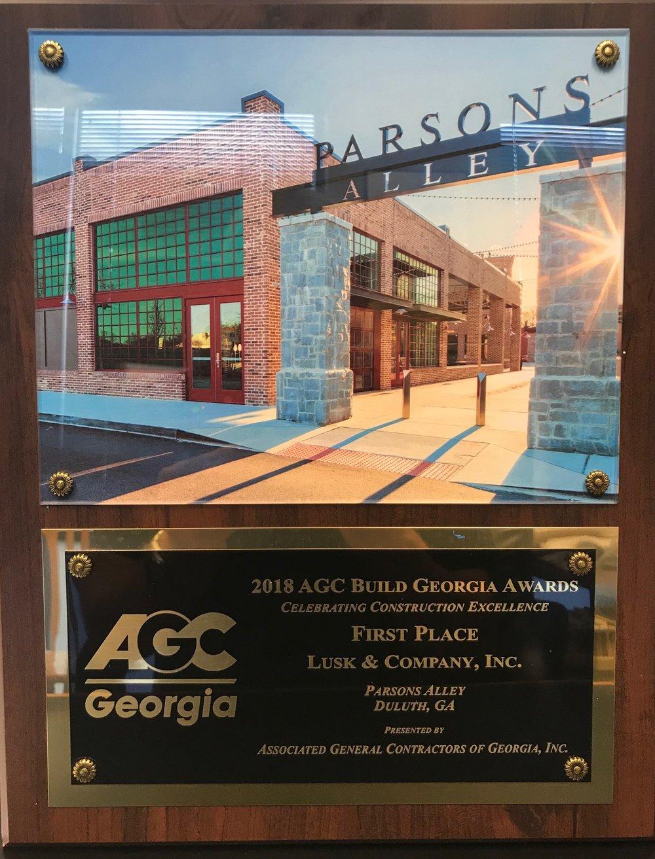 Parsons Alley Award.jpg