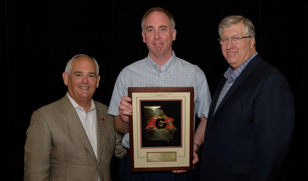 Brent Nitschke accepting award