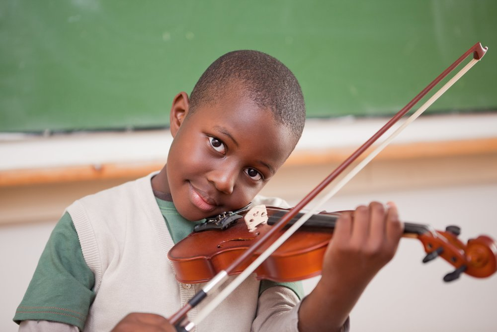 The violin is a great option to choose for a child's first instrument. It's light, compact and with regular practice, students will hear improvements quickly.