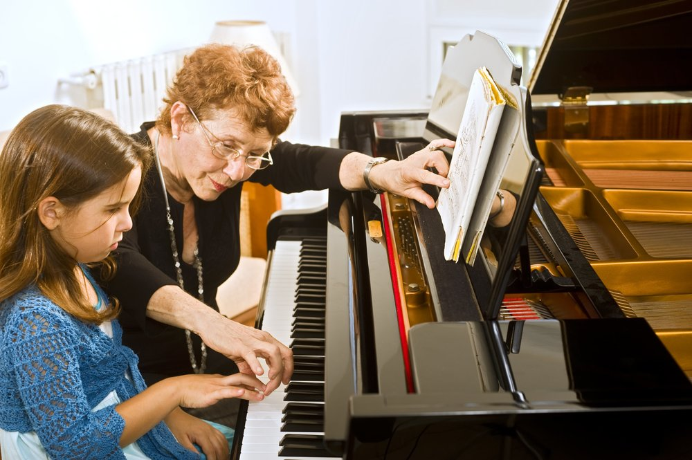 """The violin is a popular first instrument as students can """"see"""" the music on the keys in front of them."""