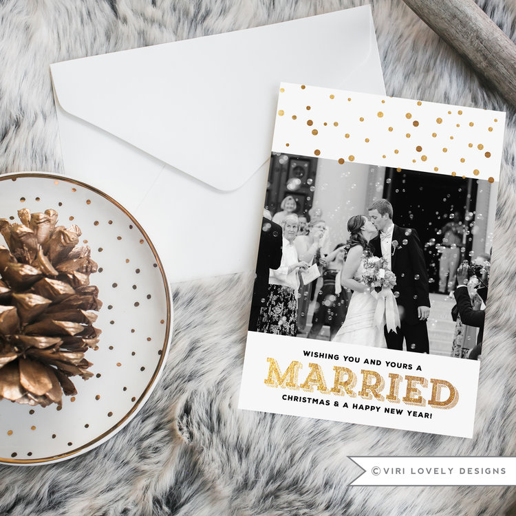 Wishing You and Yours a Married Christmas and a Happy New Year | 5x7 | #710