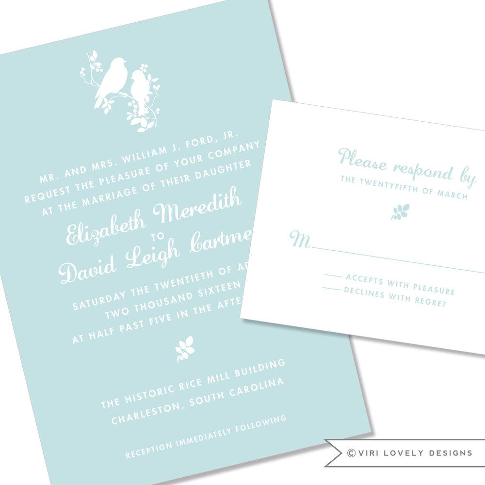Love Birds Wedding Invitation #17