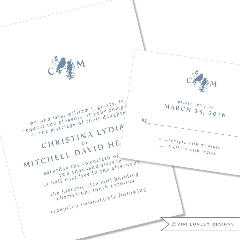 Love Birds Wedding Invitation #23