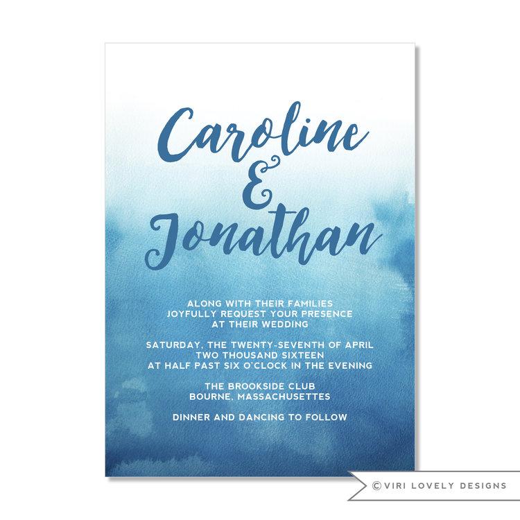 ocean blue watercolor wedding invitation 123