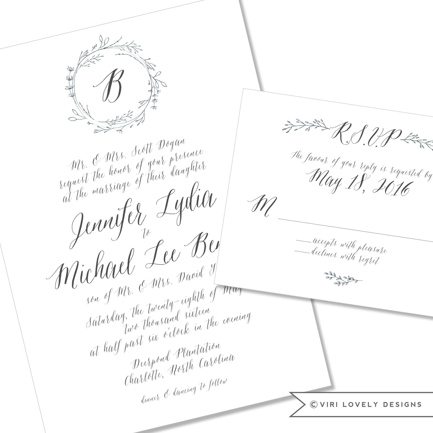 Viri Lovely Designs | Custom Wedding Invitations | Event Invitations ...