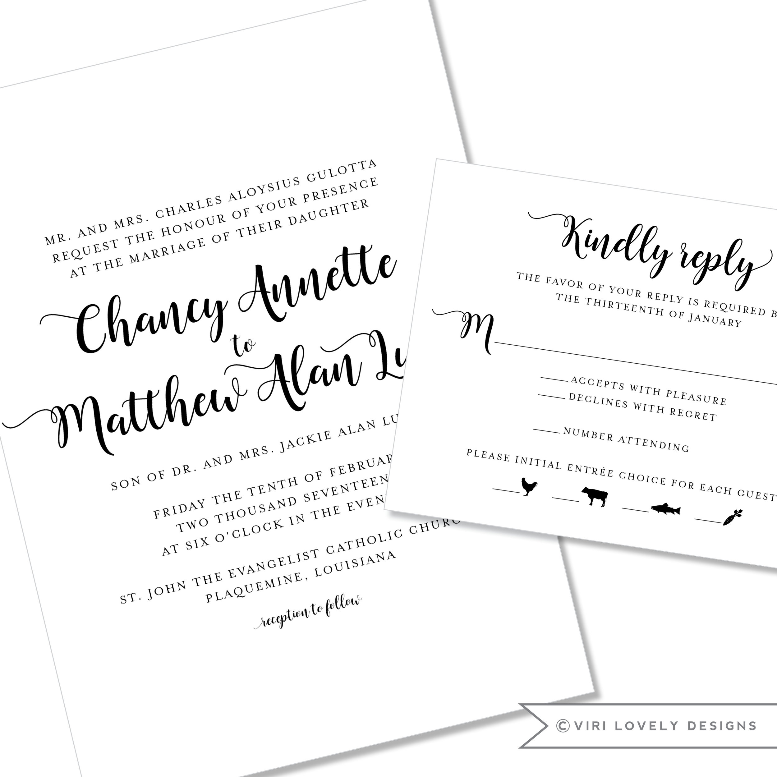 Script Wedding Invitation #1177