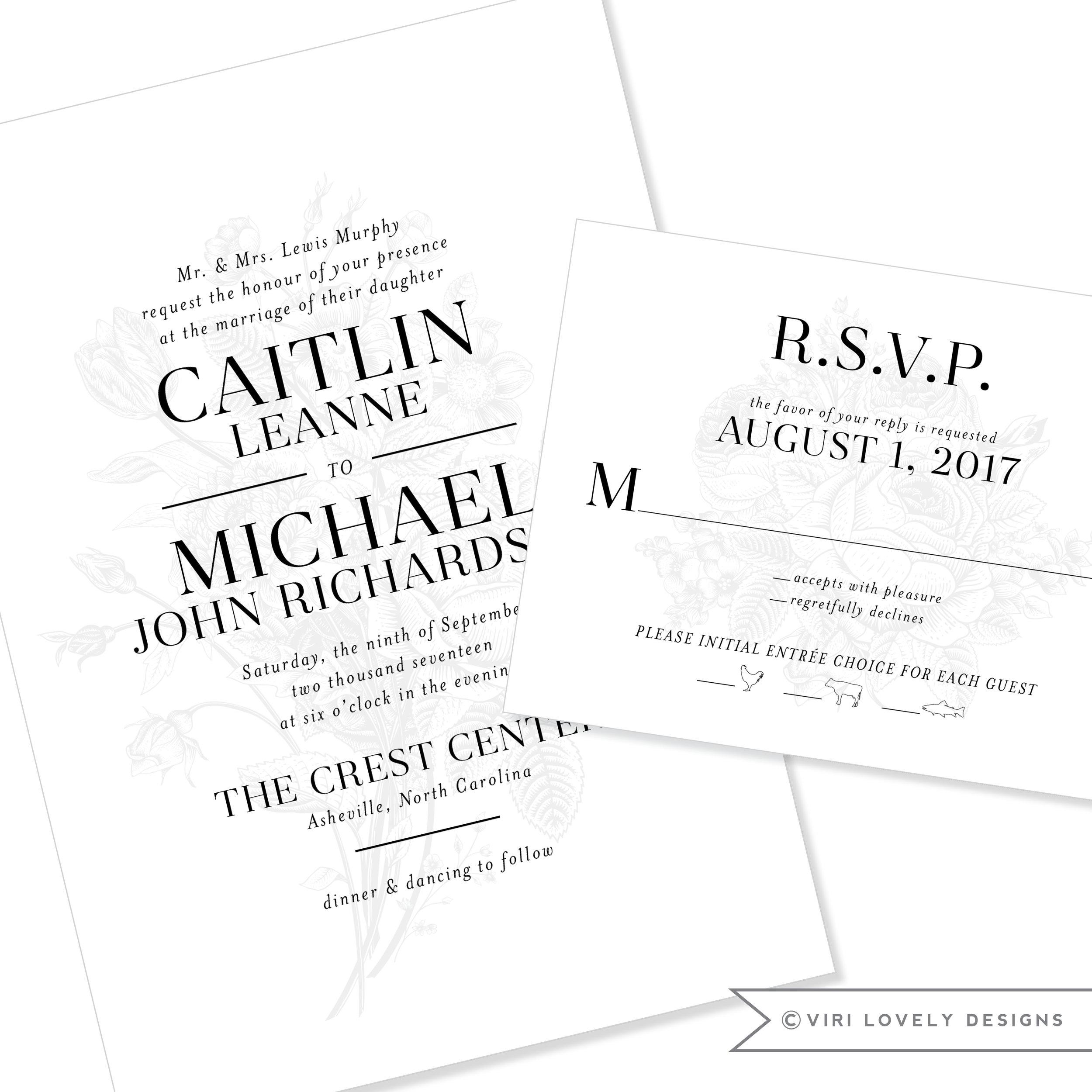 Captivating Viri Lovely Designs | Custom Wedding Invitations | Event Invitations |  Charlotte, North Carolina