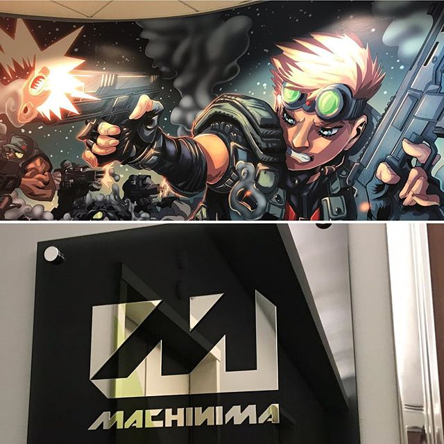 I mean. What an epic entrance @machinima ! Thank you for having me. #machinima #gun #overwatch #videogames #gaming #shoot #transformers #losangeles #woke