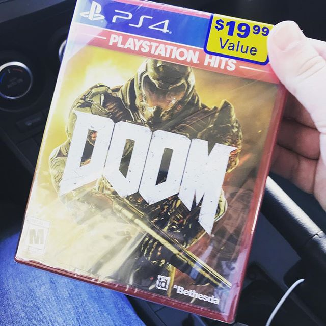 My productivity level may drop. On the other hand the possibility of demons being erased from this world just grew 💯 % #doom #ps4 #game #videogames #mars #loaded #playstation #couch #itstime #lockedandloaded #savetheplanet #damnit