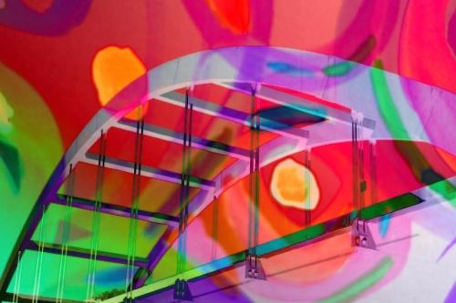 360 (Pennybacker) bridge + abstract watercolor