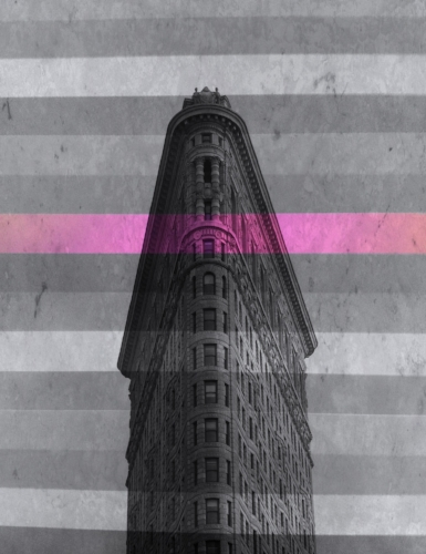 Flatiron + stripes w/one pink