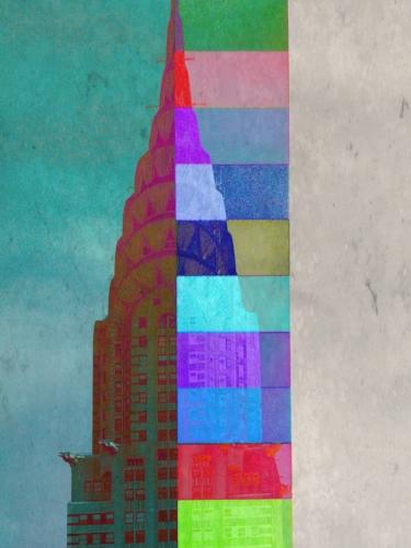 The Chrysler building + stripes
