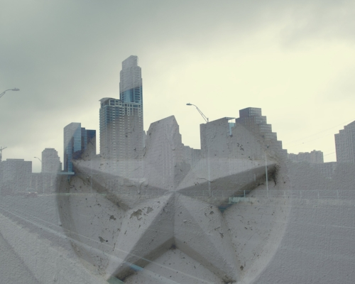 Austin skyline + Texas star