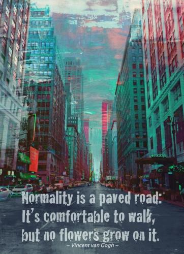 NYC street + van Gogh quote