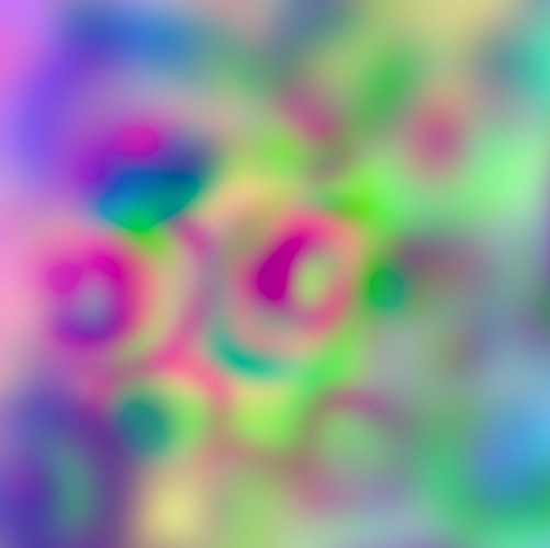 Colorful abstract circles + blur