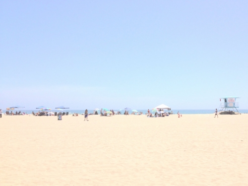 Huntington Beach + umbrellas
