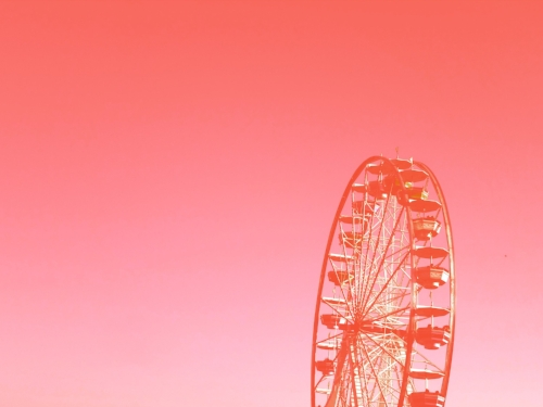 Ferris Wheel at the Austin Rodeo + Orange ombre overlay