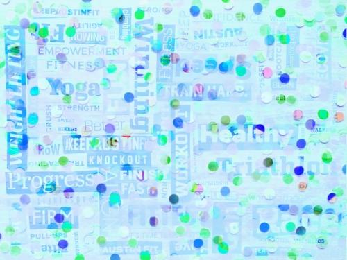 2x(Austin Fit Magazine paper collage) + 3x(Dots paper collage)