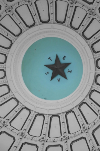 Texas Capitol rotunda + Blue color splash