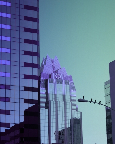 Purple Frost Tower + Birds' eye view