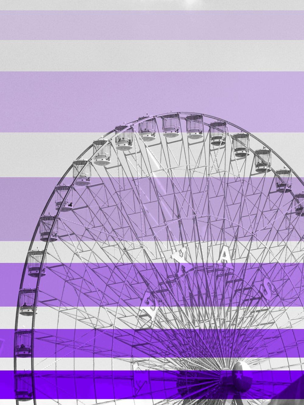 Texas Fair-is Wheel + Stripes